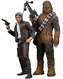 Star Wars Episode VII ARTFX+ Statuen 1/10 Doppelpack Han Solo & Chewbacca 20 - 23 cm Statuen Star Wars / 099
