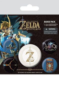 The Legend of Zelda Breath of the Wild Ansteck-Buttons 5er-Pack Z Emblem   284