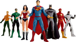 Justice League Biegefiguren 7er-Pack 20 cm Minifiguren DC Comics / 109