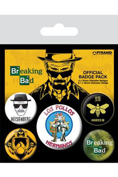 Breaking Bad Ansteck-Buttons 5er-Pack Los Pollos Hermanos   281