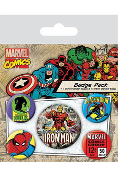 Marvel Comics Ansteck-Buttons 5er-Pack Iron Man    283