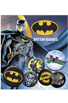 DC Comics Ansteck-Buttons 6er-Pack Batman & Joker  284