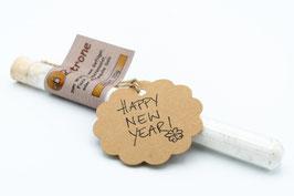 """Röhrchen mit """"Happy New Year"""" Anhänger"""