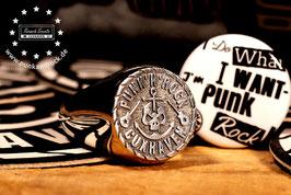 "✪ Silber Ring ""Punk & Rock"""