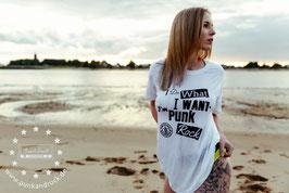 "✪ T-Shirt ""I Do What I Want"" - White"
