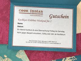 Kochkurs-Erlebnis-Weekend für 2 Geschenk Gutschein