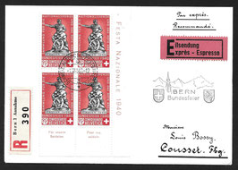 1.8.1940 B7 im Viererblock auf R-Express nach Cousset
