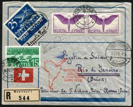 2./5.5.1932 Zeppelin 4. Südamerikafahrt 1932 eingeschrieben, nach Rio de Janeiro, Brasilien