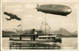 Luftschiff Graf Zeppelin und Flugschiff DO-X über MS Allgäu