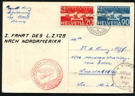 5.5.1936   Zeppelin 1. Nordamerikafahrt LZ 129 Hindenburg nach Wanwatosa, USA