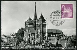 "1966 Genf Maximumkarte ""Die Kathedrale ST. Pierre"""
