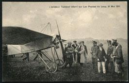 AK Aviatiker Taddeoli auf dem Plaines du Loup in Lausanne gelandet