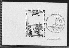 Intl. Ausstellung Binnenschiffahrt & Wasserkraftnutzung Basel 1926 - Essai
