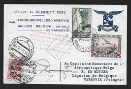 FF35.9 1935 Coupe Gordon Bennett Flug Brüssel - Warschau anschl. Ballonflug Warschau-Kaukasus