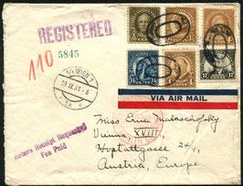 USA   9.9.1931 FLP Brief von Allentown nach Wien, Österreich