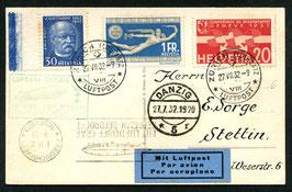 30.7/1.8.1932 LUPOSTA Fahrt Landung Danzig Rückfahrt Danzig-Frankfurt
