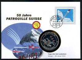 Tango über dem Lauberhorn, Wengen, 18. Januar 2014 --- 50 Jahre Patrouille Suisse