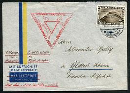 14.10.1933 Chicagofahrt von Friedrichshafen über Süd- und Nordamerika zurück nach Glarus, Schweiz