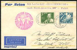 17./24.9.1931   Zeppelin 8. Nordamerikafahrt, Zuleitung Schweden ab Höglandstorget nach New York