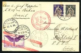 18.5./6.6.1930 Südamerikafahrt 1930 Abwurf Bahia AKSt. 24.5.1930 nach Schweden!!!