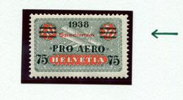 1938 Pro Aero FLP Marke F26     Abart:  Aufdruck SPECIMEN   Selten!