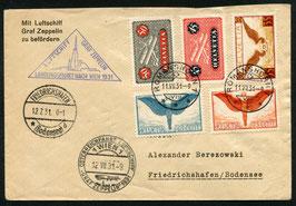 12.7.1931 Zeppelin Österreich-Fahrt Landung Wien