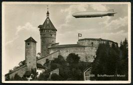 Luftschiff Graf Zeppelin über dem Munot - Schaffhausen