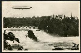 Luftschiff Graf Zeppelin über dem Rheinfall
