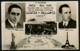 AK Coste und Bellonte, für Ihre Atlantik Überquerung Paris-New York
