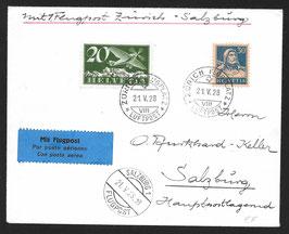 RF 28.11c  21.5.1928 EF Zürich - Salzburg ASt. 21.V.28 - 13 der OELAG