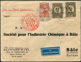 9./19.6.1934 Rückfahrt der 2. Südamerikafahrt ab Brasilien nach Basel, Schweiz