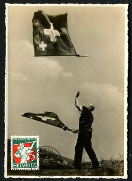 17.1.1933 PJ 61 Fahnenschwinger Maximumkarte gestempelt Rothenthurm