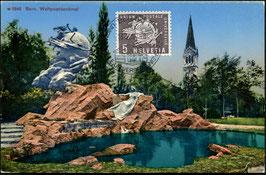 16.9.1957  FDC Maximumkarte Weltpostverein UPU