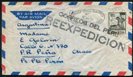 Historische Bilder 6.7.1954 Baden nach Pena, Argentinien fälschlicher Weise nach Peru gesandt