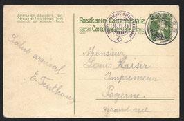 1913 Flugtag Lausanne auf offiz. Karte Lausanne - Morges
