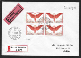 1942 Brief eingeschrieben und EXPRESS von Bern nach Basel mit F11z im VBL