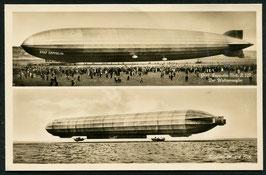 Luftschiff Graf Zeppelin auf dem Wasser und zu Lande