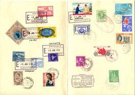Gedenkblatt  17.1./9.2.1965 Weltrundflug Gruppenreise