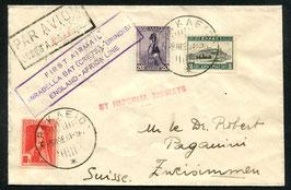 GRIECHENLAND 1931 Erstflug der IMPERIAL AIRWAYS Kreta - Brindisi
