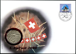 2000 Numisbrief 1. August Taler - Thema: Grauholz 1798