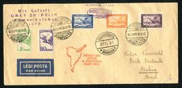 2./10.5.1932  4. Südamerikafahrt 1932 Zuleitung Ungarn, Budapest nach Bahia, Brasilien