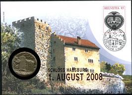 2008 Numisbrief 1. August Taler - Thema: 900 Jahre Schloss Habsburg