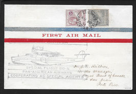 Flugschiff DO-X   20.8.1931 St. Johns, Antigua nach San Juan, Puerto Rico