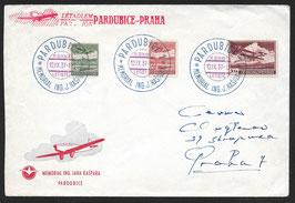 1937 Erinnerungsbrief an Ing. Jana Kaspara Flugpionier und Pilot