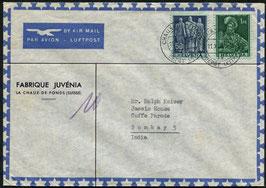 Historische Bilder 11.11.1947 La Chaux-de-Fonds nach Bombay, Indien