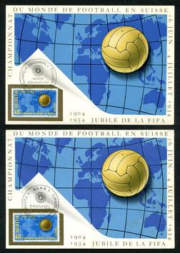 SET MK 1+2 Eröffnungs- und Endspiel der Fussball WM 1954 in der Schweiz