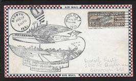 Flugschiff DO-X   22.8.1931 Erinnerungsbeleg Miami mit Luftpostfrankatur 15 c
