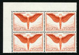 1936  Flugpost F11z geriffeltes Papier postfrisch im VBL mit Bogenrand und Attest
