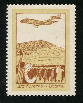 1913 Flugvorläufer Liestal Nr. VIII  Farbfrisch mit vollem Originalgummi TOP-Stück mit Attest