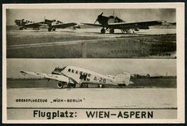 AK Flugplatz: Wien - Aspern